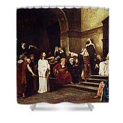 Christ Before Pilate Shower Curtain