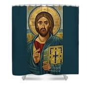Christ Blessing - Jccbl Shower Curtain