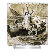 Christ Calming The Storm Shower Curtain