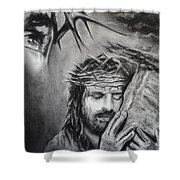 Christ Shower Curtain by Carla Carson