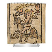 Christ Child On Donkey Shower Curtain
