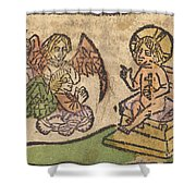 Christ Child With Three Angels Shower Curtain