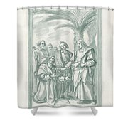 Christ Consigning The Keys To Saint Peter Shower Curtain