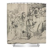 Christ Disputing With The Doctors: A Sketch Shower Curtain