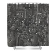 Christ Disputing With The Doctors Shower Curtain