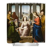 Christ Disputing With The Doctors In The Temple Shower Curtain