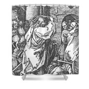 Christ Driving The Merchants From The Temple 1511 Shower Curtain