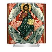 Christ Enthroned - Rlcen Shower Curtain