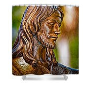 Christ In Bronze Shower Curtain by Christopher Holmes