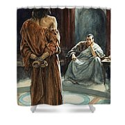 Christ In Front Of Pontius Pilate Shower Curtain