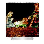 Christ Is Christmas Shower Curtain