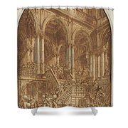 Christ Led Captive From A Palace Shower Curtain