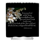 Christ Lives In Me Shower Curtain