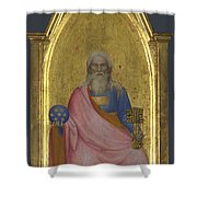 Christ Of The Apocalypse   Central Pinnacle Panel Shower Curtain