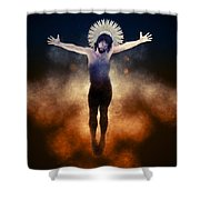 Christ Of The Cosmos Shower Curtain