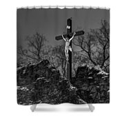 Christ On The Cross 002 Shower Curtain