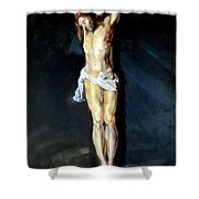 Christ On The Cross After Peter Paul Rubens Shower Curtain