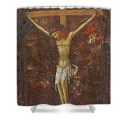 Christ On The Cross  Shower Curtain