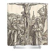 Christ On The Cross Between The Virgin And Saint John Shower Curtain