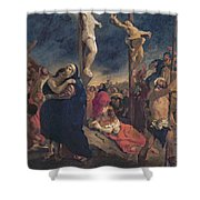 Christ On The Cross Shower Curtain by Delacroix