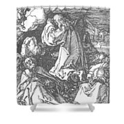 Christ On The Mount Of Olives 1511 Shower Curtain