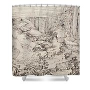Christ On The Mount Of Olives 1521 Shower Curtain
