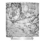 Christ On The Mount Of Olives 1524 Shower Curtain