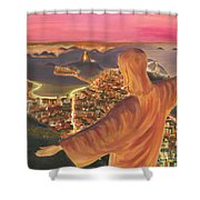 Christ Over Rio Shower Curtain
