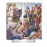Christ Preaching From The Boat Shower Curtain