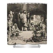 Christ Preaching (la Petite Tombe) Shower Curtain