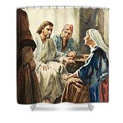 Christ Talking Shower Curtain