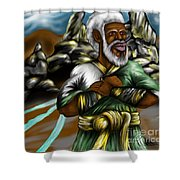 Christ The Messiah Our King Shower Curtain