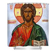 Christ The Pantocrator I Shower Curtain
