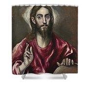 Christ The Saviour Shower Curtain