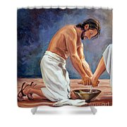 Christ The Servant Shower Curtain