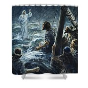 Christ Walking On The Sea Of Galilee Shower Curtain
