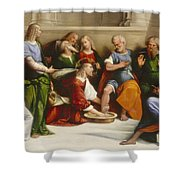 Christ Washing The Disciples' Feet Shower Curtain