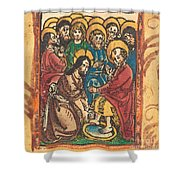 Christ Washing The Feet Of The Apostles Shower Curtain