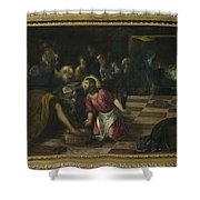 Christ Washing The Feet Of The Disciples Shower Curtain