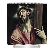 Christ With The Cross Shower Curtain