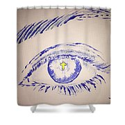 Christian Eye Shower Curtain