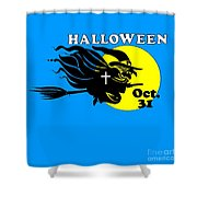 Christian Halloween Witch Shower Curtain