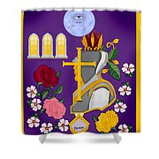 Christian Knights Of The Cross And Rose Shower Curtain