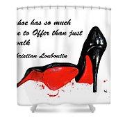 Christian Louboutin Shoes 4 Shower Curtain