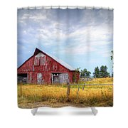 Christian School Road Barn Shower Curtain