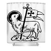 Christianity: Agnus Dei Shower Curtain