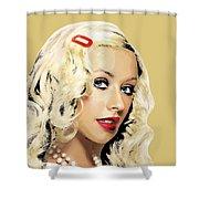 Christina Aguilera Shower Curtain