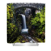 Christine Falls - Mount Rainer National Park Shower Curtain