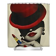 Christion Dior Red Hat Lady Shower Curtain