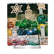 Christkindlmarkt Vienna Ornaments Shower Curtain